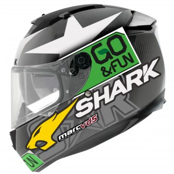Casque Integral Shark Speed-R Max Vision Pinlock Carbon Redding Mat DGY