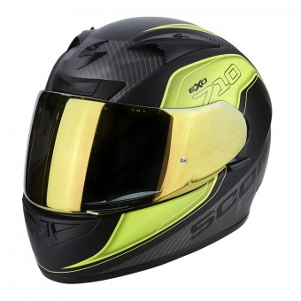 Casque Integral Scorpion EXO 710 Air Mugello Matt Black Neon Yellow Silver