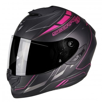 Casque Integral Scorpion Exo 1400 Air Cup Matt Black Chameleon Pink