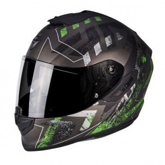 Casque Integral Scorpion Exo 1400 Air Picta Matt Silver Green