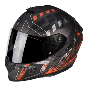 Casque Integral Scorpion Exo 1400 Air Picta Matt Silver Orange
