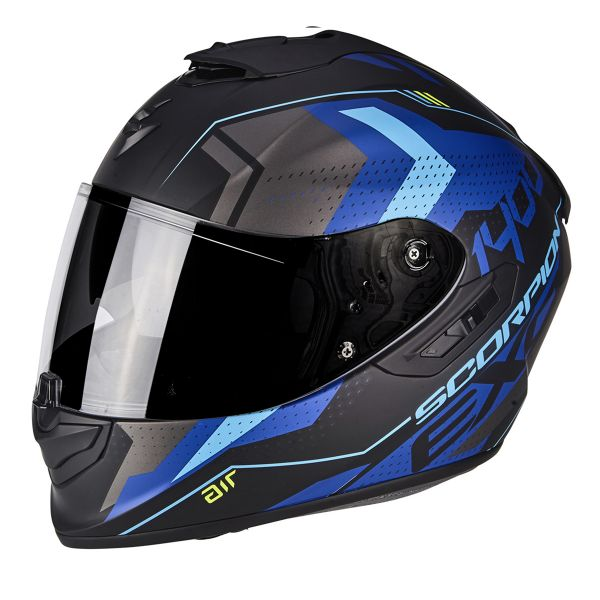 Casque Integral Scorpion Exo 1400 Air Trika Black Matt Blue
