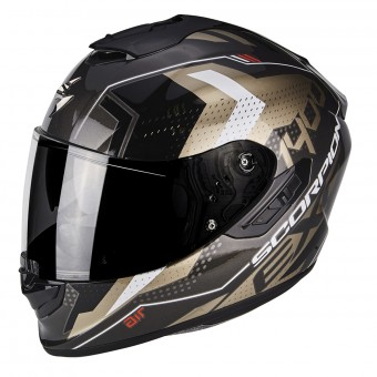 Casque Integral Scorpion Exo 1400 Air Trika Gold Black