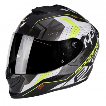 Casque Integral Scorpion Exo 1400 Air Trika White Black Neon Yellow