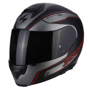 Casque Integral Scorpion Exo 3000 Air Stroll Matt Black Silver Red