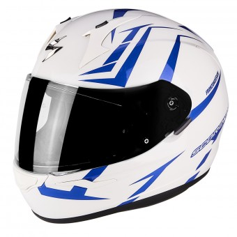 Casque Integral Scorpion Exo 390 Hawk Pearl White Blue