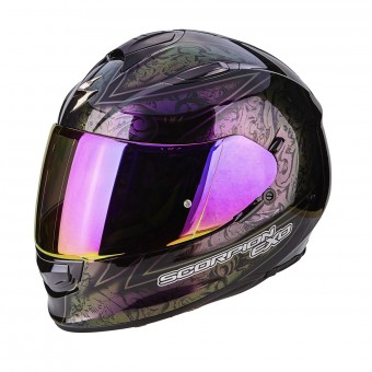 Casque Integral Scorpion Exo 510 Air Fantasy Chameleon Black