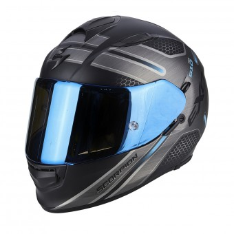 Casque Integral Scorpion Exo 510 Air Route Matt Black Blue