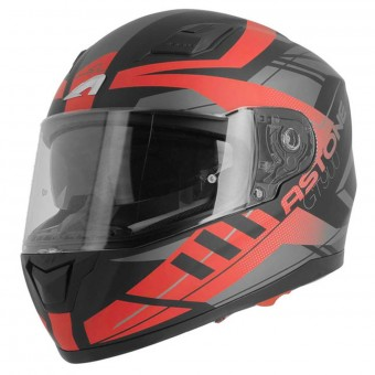 Casque Integral Astone GT 900 Street Matt Red Black