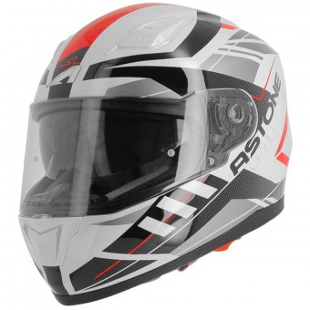 Casque Integral Astone GT 900 Street White Red