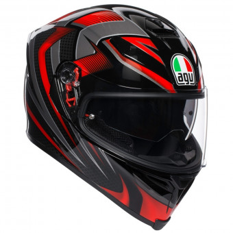 Casque Integral AGV K-5 S Hurricane 2.0 Noir Rouge