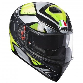 Casque Integral AGV K3 SV Liquefi Grey Yellow Fluo