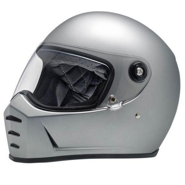 Casque Integral Biltwell Splitter Flat Silver