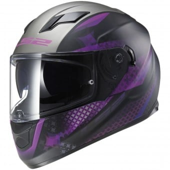 Casque Integral LS2 Stream Lux Matt Black Pink FF320