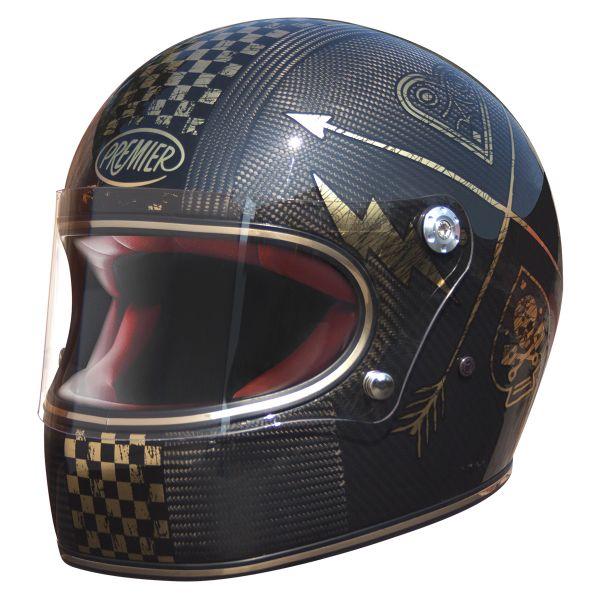 Casque Integral Premier Trophy Carbon NX Gold Chromed