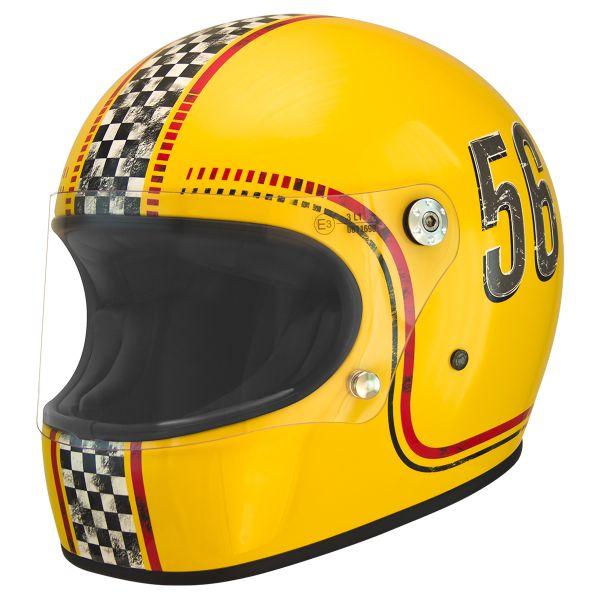 Casque Integral Premier Trophy FL12 Yellow