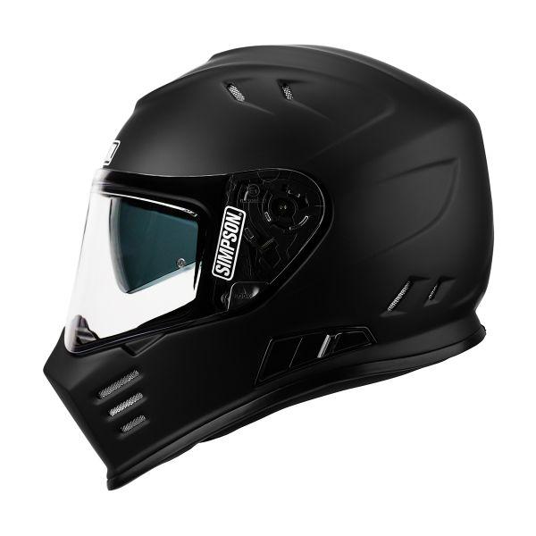Casque Integral Simpson Venom Solid Black Matt