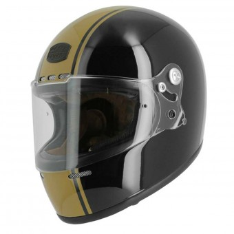 Casque Integral Astone Vintage GT Retro Matt Black Gold Stripe