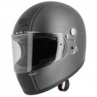 Casque Integral Astone Vintage GT Retro Matt Grey Black Stripe