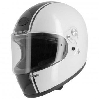 Casque Integral Astone Vintage GT Retro White Black Stripe