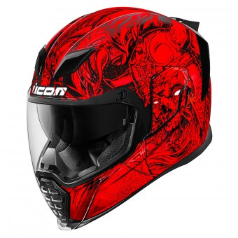 ICON blouson motard soldes pas cher, Icon konflict red rouge