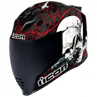 Icon Airflite Rubatone-Casque de moto noir mat