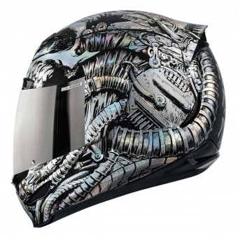 Casque Integral ICON Airmada Bioskull Chrome