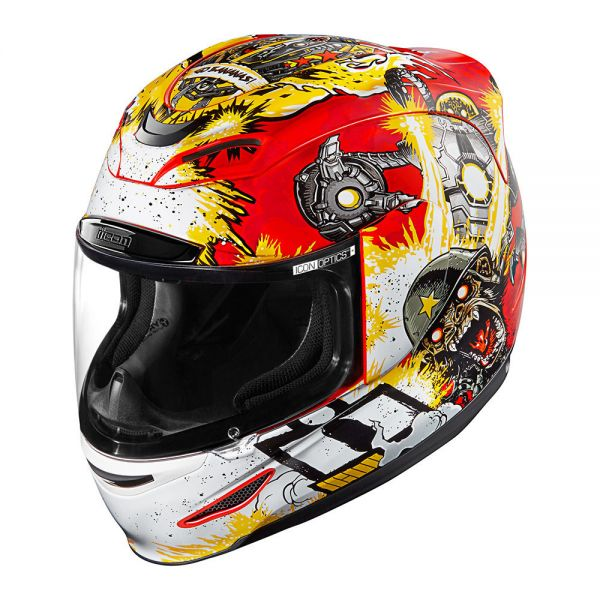 Casque Integral ICON Airmada Monkey Business Red