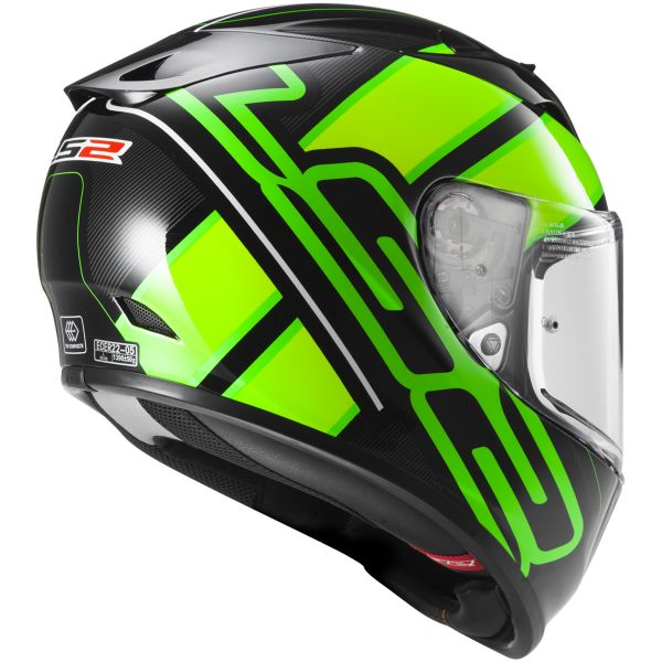 LS2 Arrow R Evo Ion Black Fluo Green FF323