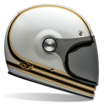 Casque Integral Bell Bullitt Carbon Roland Sands Mojo White Gold