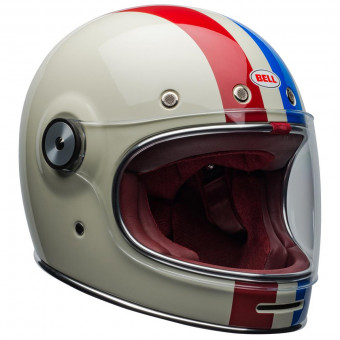 Casque Integral Bell Bullitt Dlx Command Vintage White Red Blue