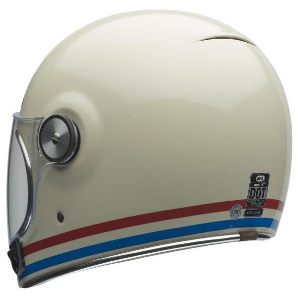 Bell Bullitt Dlx Stripes Pearl White
