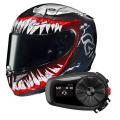Pack RPHA 11 Venom II Marvel MC1 + Kit Bluetooth Sena 5S Solo