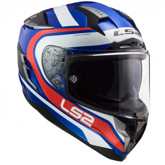 Casque Integral LS2 Challenger Fusion Blue Red FF327