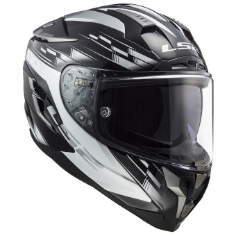 Casque Integral LS2 Challenger GP Black White FF327