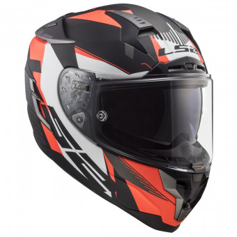 Casque Integral LS2 Challenger Squadron Matt Fluo Orange FF327