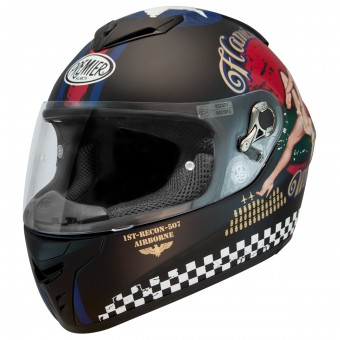 Casque Integral Premier Dragon Evo Pinup 9BM Black Matt