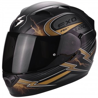 Casque Integral Scorpion EXO 1200 Air Fulgur Matt Black Gold