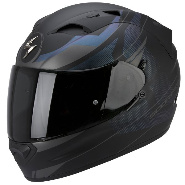 Casque Integral Scorpion Exo 1200 Air Fulmen Matt Black Silver