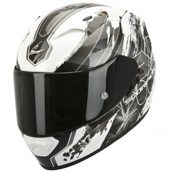 Casque Integral Scorpion Exo 1200 Air Lilium White Chameleon Silver