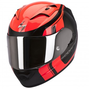 Casque Integral Scorpion EXO 1200 Air Stream Tour Noir Mat Rouge