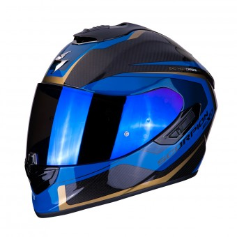 Casque Integral Scorpion Exo 1400 Air Carbon Esprit Noir Bleu
