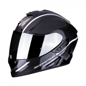 Casque Integral Scorpion Exo 1400 Air Carbon Grand Blanc