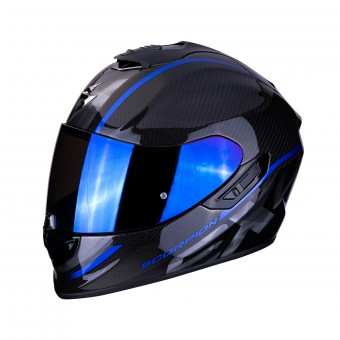 Casque Integral Scorpion Exo 1400 Air Carbon Grand Bleu