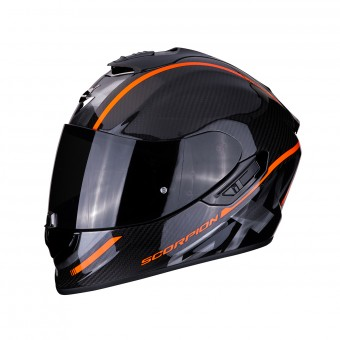 Casque Integral Scorpion Exo 1400 Air Carbon Grand Orange