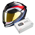 Pack Exo 1400 Air Carbon Legione Red Blue + Kit Bluetooth Sena SMH5