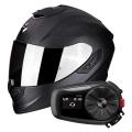 Pack Exo 1400 Air Carbon Noir Mat + Kit Bluetooth Sena 5S Solo