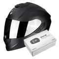 Pack Exo 1400 Air Carbon Noir Mat + Kit Bluetooth Sena SMH5