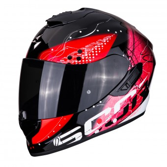 Casque Integral Scorpion Exo 1400 Air Classy Noir Rouge