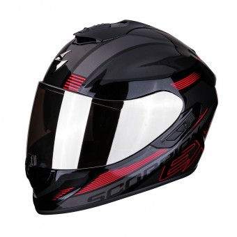 Casque Integral Scorpion Exo 1400 Air Free Noir Rouge